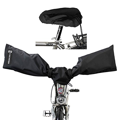 NC-17 Connect Schutzhüllen für E-Bike Lenker und Fahrrad Sattel / Handlebar und Seat Cover 2.0 / Lenkerschutz, Sattelschutz, Schutzhaube für Fahrrad Lenker und Sattel / wasserdicht / One Size / Nylon
