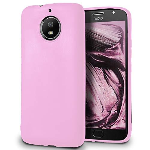 5.99 Guscio Anticaduta per Motorola Moto G5s Plus | Rosa | Silicone TPU Sottile e