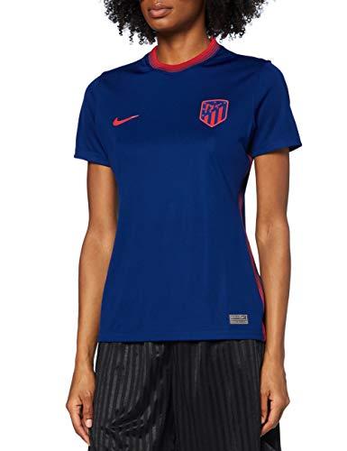 Nike ATM W NK BRT STAD JSY SS AW, T-shirt Donna, coastal blue/(sport red) (no sponsor), M