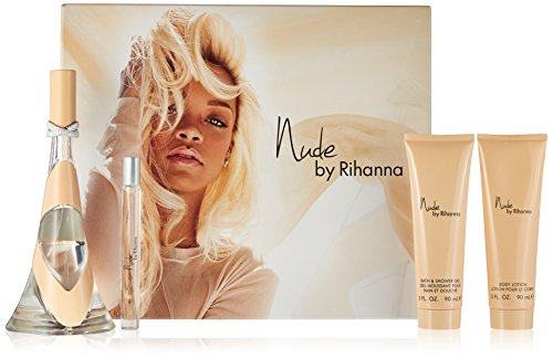 Rihanna Nude Eau de Parfum Spray 100 ml + 10 ml + Body Lotion 90 ml + Duschgel 90 ml