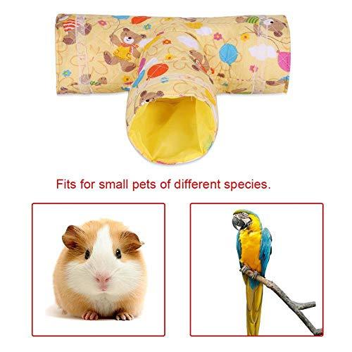 HEEPDD Túnel para Animales, 3 vías para Mascotas Túnel en Forma de T Ejercicio Tubo Juguete para Mascotas para Conejo Hurón Hamster Conejillo de Indias Chinchillas Ratones Ratas (Conejo)