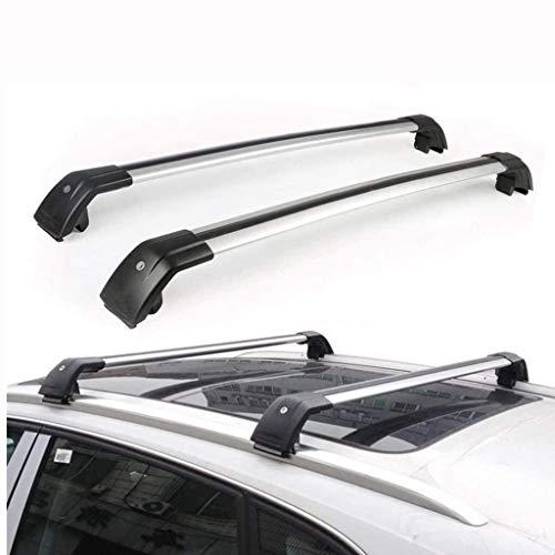 Portaequipajes de Aleación de Aluminio, para Rieles de Guía De Techo para Mitsubishi Outlander 2013-2018 Portaequipajes de Aluminio de Barras de Techo 2 Piezas