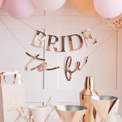 Party-slinger JGA-Banner BRIDE TO BE roségoud koper vrijgezellenafscheid kamerdecoratie Hen-Party Deco JGA accessoires & accessoires vrouwen bruid bruiloft bruiloft decoratie decoratieve banner