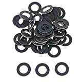 Kesoto Pack of 50 M12 Oil Crush Washers/Drain Plug Gaskets for for Toyota for for for Lexus 043012031(Black)