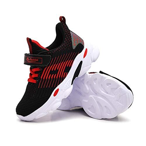 Zapatillas Deportivas para niñas Primavera y otoño cómodas Botas Planas Antideslizantes de Malla Antideslizante niñas Zapatos Deportivos Casual Deportes Zapatos de Correr