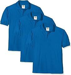 Fruit of the Loom Camiseta Polo para Niños, Pack de 3