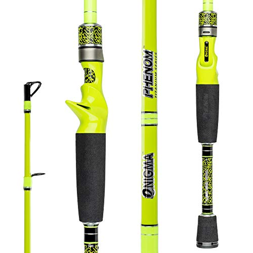Enigma Fishing Phenom Titanium Gen2 High-Performance Bass Fishing Rods, Japanese Toray High Modulus...