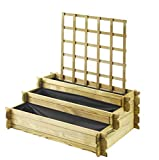 Forest Style Carre Potager Podium Angelic Treillis - 1000x800x400 mm - 3 etages - EP15mm