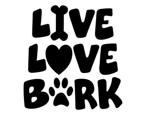 Vinilo decorativo para pared con diseño de camionero y texto en inglés 'Live Love Bark', 58,42 cm