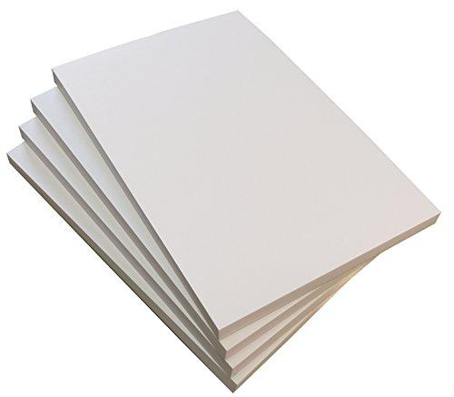 4x Notizblock blanko 100 Blatt, DIN A6, Qualitäts-Offset-Papier 80g/m² (22207)
