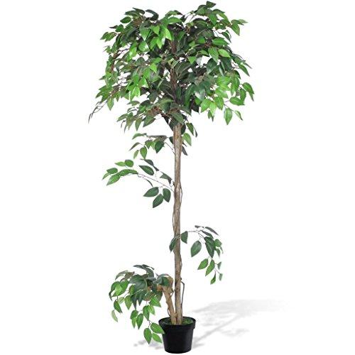 vidaXL Planta Artificial de Ficus con Macetero 160 cm Planta Decorativa Casa