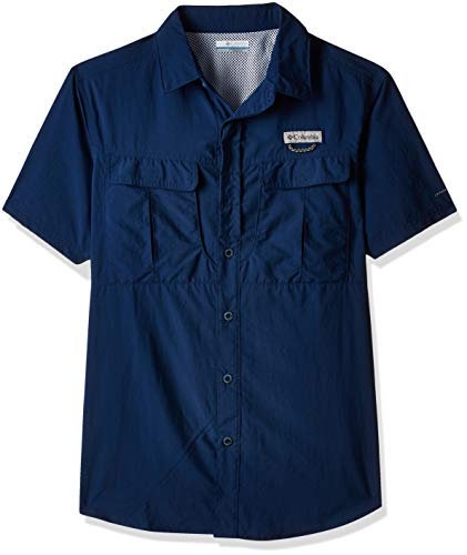 Columbia Cascades Explorer Short Sleeve Shirt Camiseta de Senderismo Manga Corta, Hombre,...