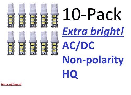 10 pack-Pure White 12V AC/DC 42 LED per bulb for Malibu landscape light and all-T10-T15 base bulbs HQ