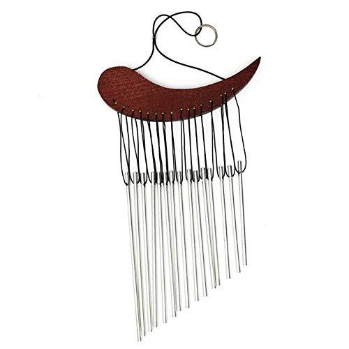 Goodplan Kreative Hängen Windbell Holz Metallrohr Windspiele Dekoration Geeignet für Garten Raum Verwenden 1 STÜCKE