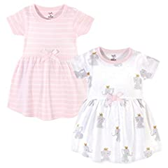 Set includes coordinating dresses Made with 100% cotton Soft, gentle and comfortable on baby's skin Optimal for everyday use Affordable, high quality value pack