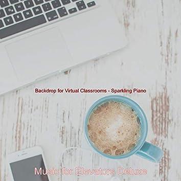 Backdrop for Virtual Classrooms - Sparkling Piano