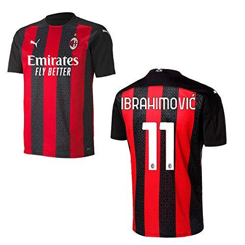 PUMA AC Mailand Trikot Home Herren 2021, Größe:L, Spielerflock (zzgl. 17.90EUR):11 Ibrahimovic
