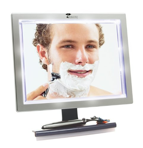 ToiletTree Products Deluxe LED Fogless Shower Mirror with Squeegee, 1.45 Ounce