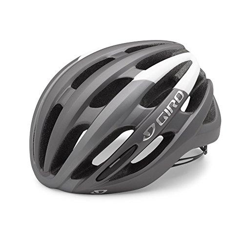 Giro Foray Rennrad Fahrrad Helm weiß/Titan matt 2019: Größe: M (55-59cm)