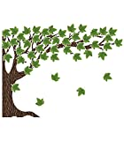 Schoolgirl Style Woodland Whimsy Bulletin Board Set—Large 6-Piece Tree Cutout with Green Leaves for Bulletin Boards, Chalkboards, Wall Décor, Classroom Decorations (49 pc)