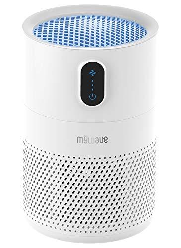 MyWave Purificador MWPS-PUV - Purificador de Aire con Filtro De 4 Capas: Prefilto, HEPA, Carbón Activo y Luz UV, Elimina: Bacterias, Ácaros, Esporas De Moho, PM2.5. Espacios De hasta 16m2