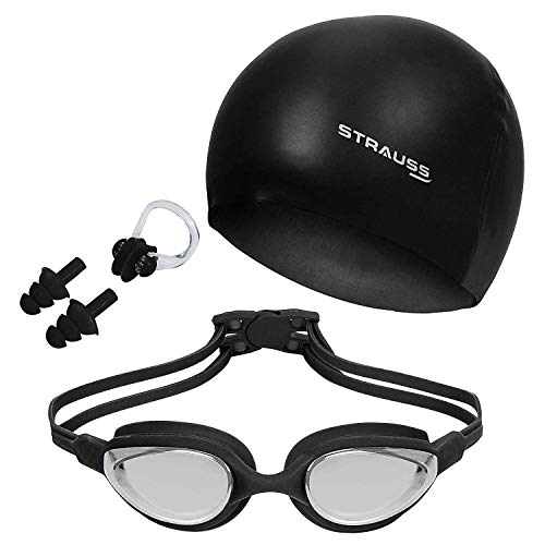 Strauss Swimming Goggles Set (Black)