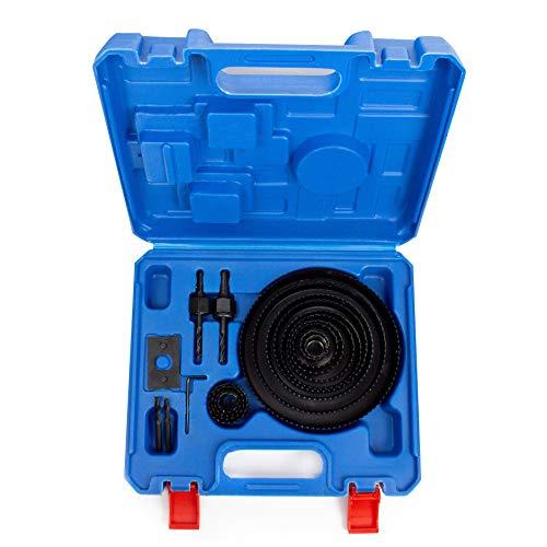 CUTTEX TOOLS Hole Saw Kit, 22 Pcs Full Set Hole Saw Kit, 3/4