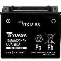 台湾製 バイクバッテリー 国内液入 初期補充電済 YUASA 純正互換品 (YTX12-BS / GTX12-BS / FTX12-BS / KTX12-BS 互換)