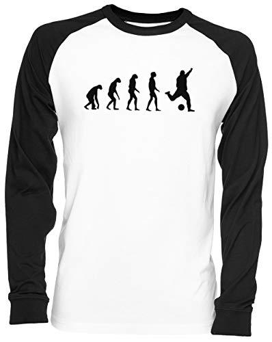 Evolucionado A Tocar Fútbol Blance Camiseta De Béisbol Unisex Tamaño L White Baseball tee Tshirt Unisex Size L