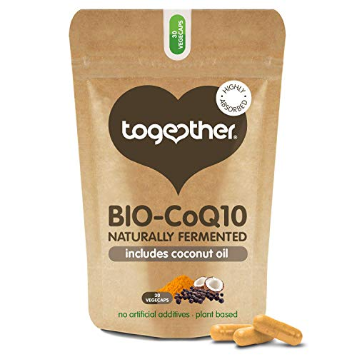 Coenzyme Q10 – Together Health – Ubiquinol Co10 – Naturally Fermented – 95% Piperine – Vegan Friendly – Made in The UK – 30 Vegecaps