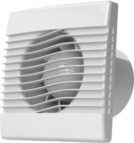 AirRoxy pRim - Ventilatore interno per bagno, cucina, 100 mm, 10 cm