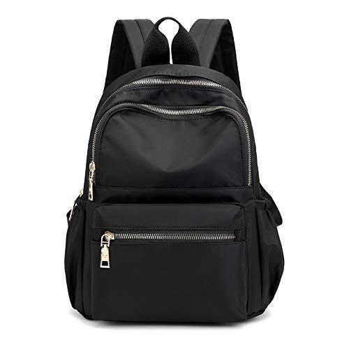 BMVMB Nylon Backpack for Women Casual Travel Backpack Purse Black Lightweight School Bag for Women Lady Teenager Girl