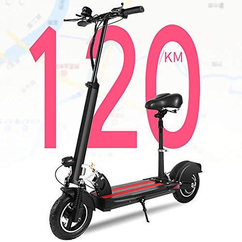 MSG ZY E-Scooter/Scooter eléctrico/Bicicleta eléctrica, Configuración de Nivel Superior 48V, Velocidad 35-45 / h, 18650 Batería de Litio, 500W, 30-120 km Alcance, Capacidad de Carga ≤150kg
