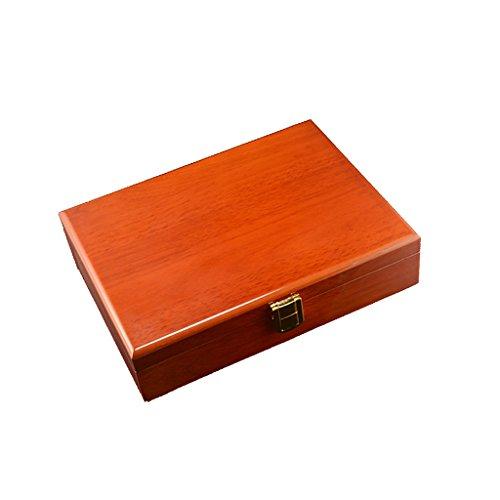 Sharplace Vintage Holzschaufenster Box Schmuck Display Stand Display für Ringe Ohrringe Manschettenknöpfe