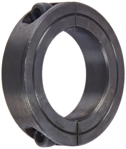"""Climax Part 2C-150, Mild Steel, Black Oxide Plating, Clamping Collar, 1 1/2 inch bore, 2 3/8 inch OD, 9/16 inch Width, 1/4-28 x 3/4"""" Clamp Screw"""