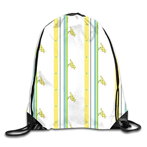show best Birdstripe Drawstring Gym Bag for Women and Men Polyester Gym Sack String Backpack for Sport Workout, School, Travel, Books 14.17 X 16.9 inch