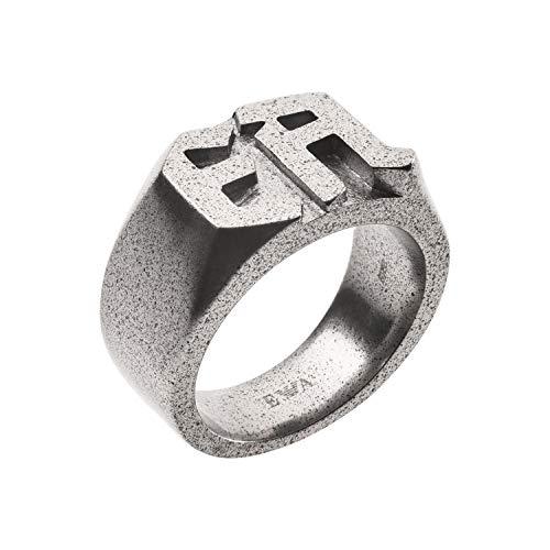 Emporio Armani Herren-Ringe Edelstahl mit '- Ringgröße 61 EGS2664040-10