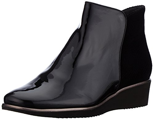 Hassia Genua, Weite K - Bottines non doublées - Bottines non doublées - femme - Noir - Schwarz (0100 schwarz) - 37.5 (Taille fabricant: 4.5)