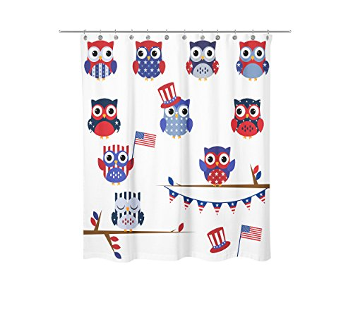 American Owl Shower Curtain