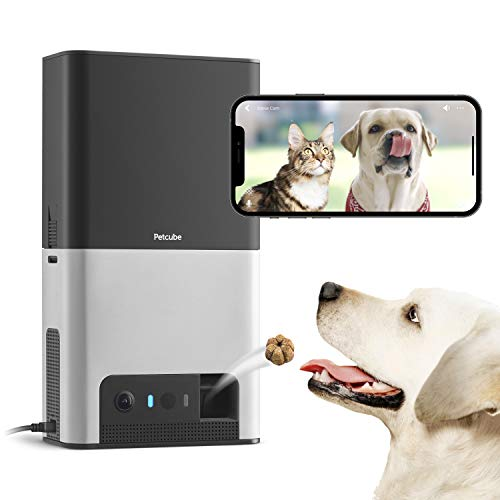 [New 2020] Petcube Bites 2 Wi-Fi Pet Camera with Treat Dispenser & Alexa Built-in, for Dogs and Cats. 1080p HD Video, 160