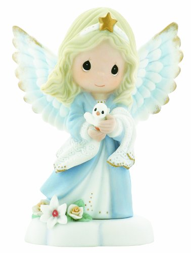 Precious Moments, In The Radiance Of Heaven's Light, Bisque Porcelain Figurine, Angel, 930012