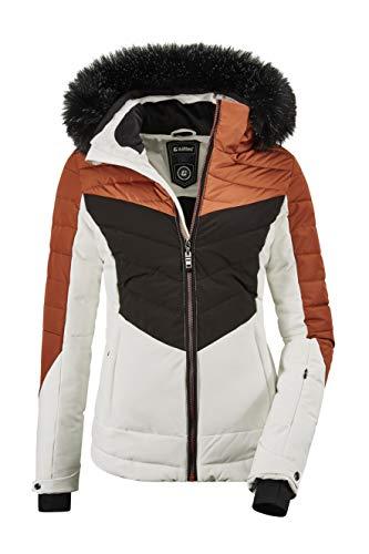 Killtec Damen Atka WMN Quilted Ski Jckt A Jacke In Daunenoptik Mit Abzippbarer Kapuze Und Schneefang, gebranntes rot, 34