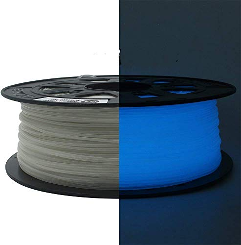 CCTREE 1.75mm ST-PLA (PLA+) 3D Printer Filament Accuracy +/- 0.03 mm 1kg Spool (2.2lbs) for Creality Ender 3 Pro,Ender 5/Pro,CR-10 V2,CR-10S,CR-10S Pro, Glow in The Dark Blue