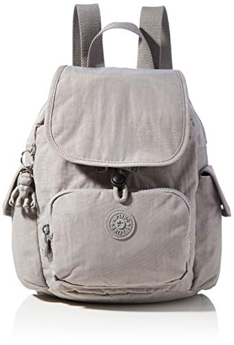 Kipling City Pack Mini, BACKPACKS para Mujer, Grey Grau, 14x27x29 cm (LxWxH)
