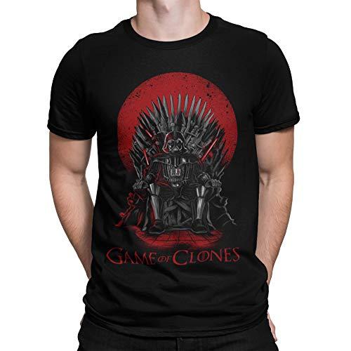 Camisetas La Colmena, 035 - Game of Clones (Negro XL)