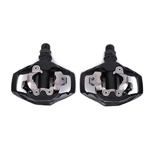 / in Forma for Shimano/Misura for PD-M530 SPD MTB Trail MTB a sgancio rapido Pedali con Pedal Cleats Nero Bianco MTB Bike (Color : Black)