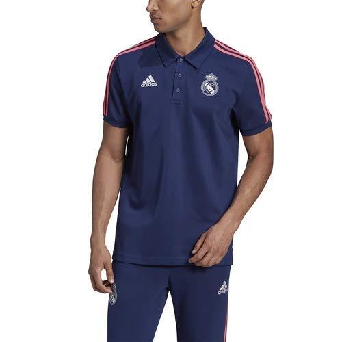 Real Madrid Polo/Adidas:REAL 3S S Azul
