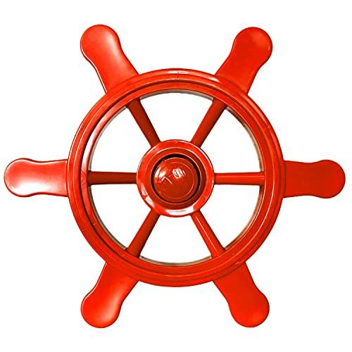 Loggyland Volante da pirata per torre da gioco, torre da arrampicata, casa giochi, nave da gioco, in giardino, per bambini (rosso)