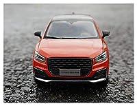 1:18に適用するアウディQ2Lスケールブルー/オレンジ/ブラックダイカスト静的シミュレーション合金モデルカーギフトコレクションおもちゃギフト (Color : 2)