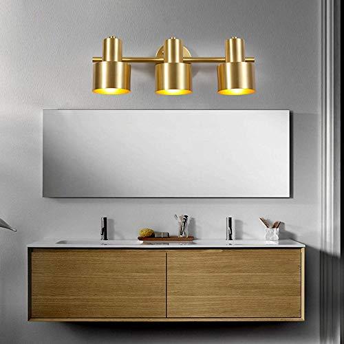 De enige goede kwaliteit Decoratie Noordelijke Badkamer Spiegel Licht LED Lichten Badkamer Spiegelkast Vanity Spiegel Licht Moderne Eenvoud Amerikaanse Koper Wandlamp